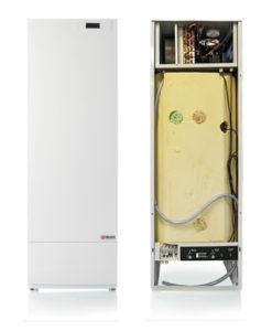 Nilan VGU 250 Sol poistoilmalämpöpumppu, avattuna ja kiinni