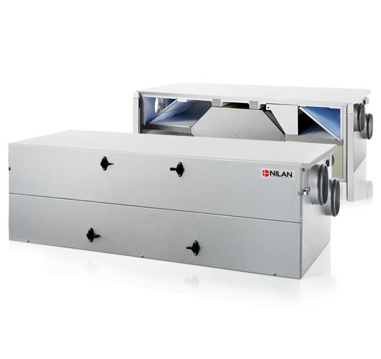 Comfort CT 150 ilmanvaihtokone poistoilmalämpöpumpulla, avattuna ja kiinni
