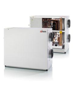 Nilan VPL 15 C ilmanvaihtokone lämmöntalteenotolla, avattuna ja kiinni